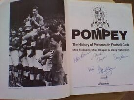 Signed copy of Portsmouth FC History Book