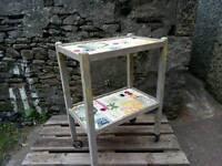 Vintage wooden tea trolley