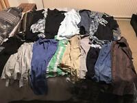 Men's shirts t shirts and jeans