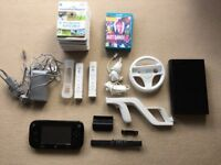 Wii U console with 3 games & 9 Wii games