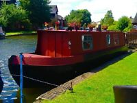 36 FOOT NARROWBOAT WITH WORKING BMC 1.5 ENGINE SAIL AWAY PROJECT JUST NEEDS THE FINISHING TOUCHES