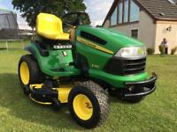 Immaculate big professional John Deere ride on mower sit on lawnmower lawn tractor garden