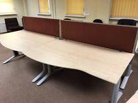 Bank of 4 Office Desks & Bank of 2 Office Desks