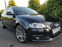 2010 AUDI A3 TDI S LINE *BLACK EDITION* ONLY 79K! LIKE LEON GOLF A4 FOCUS ASTRA VRS FR 120D