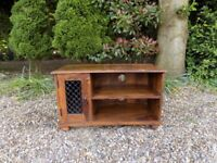 Small Solid Sheesham Jali Television TV Stand Unit Cabinet