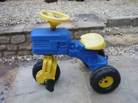 Rolly Childrens Tractor and Trailer - Pedal ride on blue