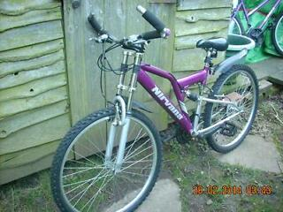 ladies dual suspension mountain bike