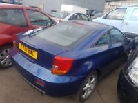 TOYOTA CELICA 3 DOOR 2.0 PETROL IN BLUE FOR BREAKING ONLY FOR PARTS 2001