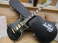 2005 Korean Epiphone Les Paul Black Beauty Guitar with Hard Case