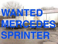 Mercedes Sprinter 208D - 308D - 310D - 312D VANS WANTED ANY CONDITION