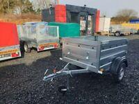 BRAND NEW MODEL 5x4 SINGLE AXLE DOUBLE BROADSIDE TRAILER 750KG