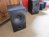 KEF Q10 Speakers Excellent Sound NO GRILLS few marks to cabinets