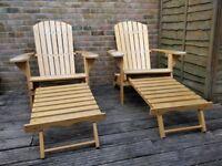 Garden Chair Lounger, Wooden