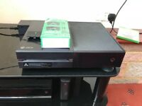 Xbox one with Kinect and 16 games.