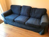 Ikea EKTORP 3 Seater Sofa- with Changeable Cover- FREE (Collection Only)