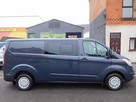 Finance me.. 2014 Ford transit custom 2900 factory fitted 6 seat crew van rare Long Wheel Base (43)