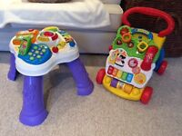 VTECH baby walker and table toy