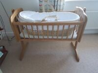 Crib and Moses basket