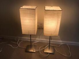 2 IKEA desk / bedside lamps
