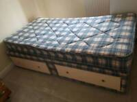 Single bed with two drawers