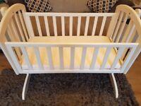 Obaby white swinging crib