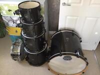 Mapex Armoury 6 Piece Drum Shellpack in Black Dawn