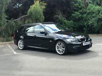 2011 61 REG BMW 320D M SPORT ESTATE AUTOMATIC BLACK