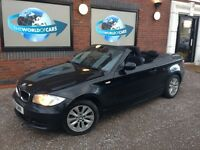 BMW 1 SERIES 2.0 118i ES Convertible 2dr Petrol Automatic (162 g/km, 143 bhp) (black) 2011