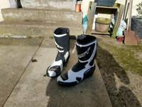Rst motorcycle boots & gloves size 9