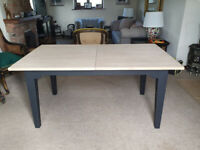 Laura Ashley Oak Extendable Table and Six Oak Chairs - Available Seperately