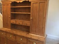 Beautiful Pine Kitchen Dresser for Sale & matching Pine Wall Mounted Corner Unit and Pine Cupboard
