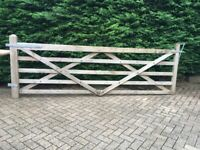 Driveway wooden gate and fixings