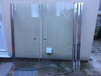 P Bath shower screen
