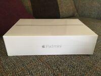 Brand new Apple iPad Mini 4 WiFi 128 GB Silver, Apple warranty, sealed, unwanted gift