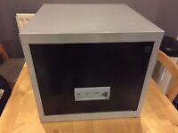 Single filing cabinet black/grey