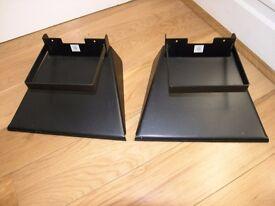 Pair Speaker Floor Stands Quality Crown Merton Weymouth