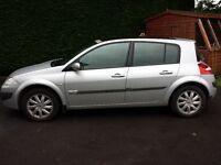 £1250 ONO Renault Megane 1.6 VVT Dynamique 5dr Silver 70,792 miles 12 months MOT Sunroof Alloys