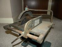 Vintage miniature table saw