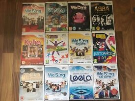 12 Wii Games : We Sing, We Dare, Just Dance 3 etc... + 2 microphones