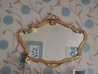Large ornate mirror