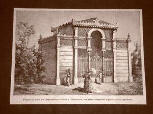 Esposizione-Nazionale-di-Milano-nel-1881-Padiglione-d-039-ingresso-in-via-Boschetti