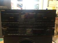 Technics RS-X901 Double Cassette Deck & Technics ST-X901L LW-MW-FM Stereo Tuner Separates
