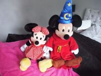 Disney Mickey and mini mouse from euro disney large and small plush