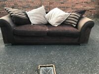 DFS large three seater sofa, couch, settee (free local delivery)