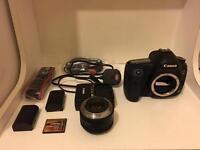 Canon EOS 5D Mark III 22.3MP Digital SLR Camera - Black | 50mm F1.8 Prime lens | Original box
