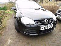 VW Golf 1.4Tsi, 6 speed manual, Metallic Black, 3 door, MOT, Serviced, Alloy wheels, CD player.