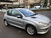 2004 Silver Peugeot 206 with 1 Year MOT 92K