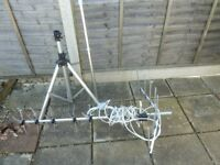 Tv aerial tripod and pole. VGC ideal for caravan or camping