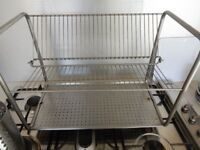 Designer Dish Drying Rack Drainer Metal Chrome 2 tier Style IKEA Washing Up