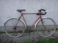 BSA Golden streak retro road bike, 5 gears, 27 inch wheels, 23 inch frame, rear rack and mud guards